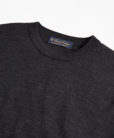 KARDIGÁN BROOKS BROTHERS SWT WL EASY CARE CREW NEW CHARCOAL HTHR