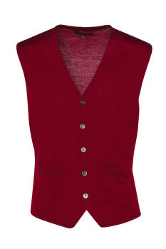 KARDIGÁN BROOKS BROTHERS SWT WL EASY CARE SOLID WAISTCOAT NEW RED