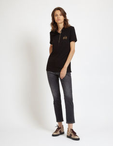 FARMER LA MARTINA WOMAN DENIM TROUSER BLACK DENI
