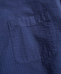 ING BROOKS BROTHERS SPT ML GARMENT DYED SEERSUCKER MILANO NAVY