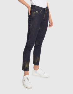 FARMER LA MARTINA WOMAN TROUSERS DENIM STRETCH