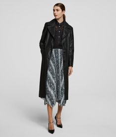 SZOKNYA KARL LAGERFELD SNAKE PRINTED PLEATED SKIRT