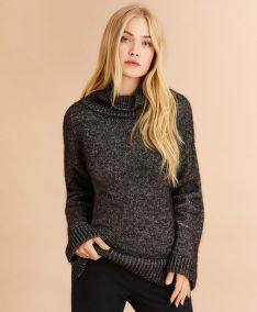 PULÓVER BROOKS BROTHERS MARLED COTTON-ALPACA OVERSIZED SWEATER