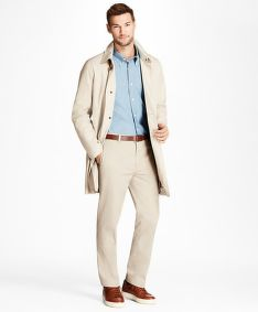 KABÁT BROOKS BROTHERS D OTWR- NEW NEWBURY KHAKI