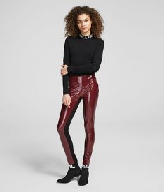 LEGGINS KARL LAGERFELD KARL FAUX PATENT LEGGINGS