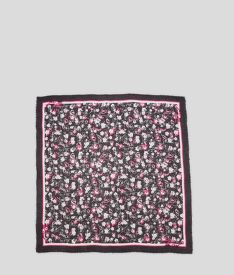 SÁL KARL LAGERFELD ALL OVER ORCHID SQUARE SCARF