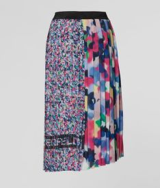 SZOKNYA KARL LAGERFELD ASYMMETRICAL PLEATED SKIRT