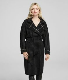 KABÁT KARL LAGERFELD DOUBLE FACE WRAP COAT