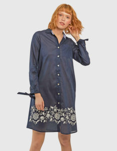 RUHA LA MARTINA WOMAN DRESS L/S COTTON MUSLIN