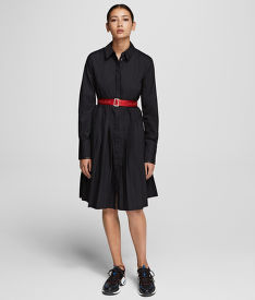 RUHA KARL LAGERFELD SHIRT DRESS W/ LOGO BELT