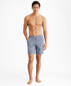 FÜRDŐRUHA BROOKS BROTHERS CBT ML PRINTED SWIM NEWPORT 7 VIOLAFLORAL