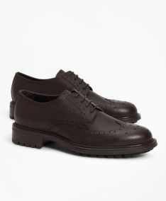FÉLCIPŐ BROOKS BROTHERS 1818 FOOTWEAR SUEDE WINGTIPS