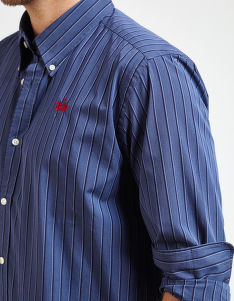 ING LA MARTINA MAN SHIRT L/S POPLIN STRIPED Y