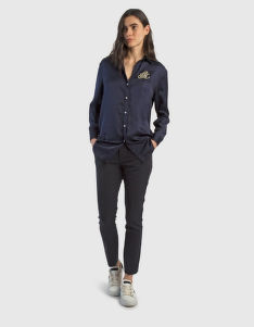 ING LA MARTINA WOMAN VISCOSE SATIN SHIRT L/S
