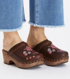 FLIPFLOP ODD MOLLY LEATHER CLOGS OF HEART