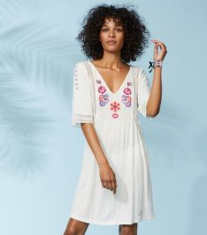 RUHA ODD MOLLY FLOWER CREST BEACH DRESS