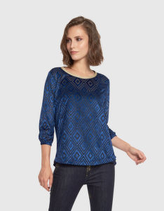 BLÚZ LA MARTINA WOMAN BLUSE LONG SLEEVES DEVOR