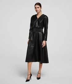 RUHA KARL LAGERFELD FAUX LEATHER DRESS
