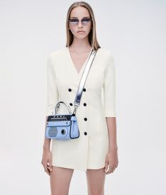 RUHA KARL LAGERFELD DOUBLE BREASTED PUNTO DRESS