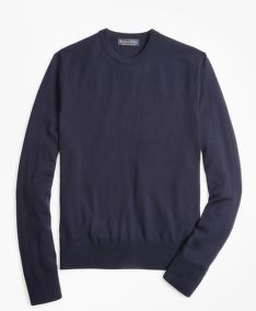 PULÓVER BROOKS BROTHERS BROOKSTECH MERINO WOOL CREWNECK SWEATER