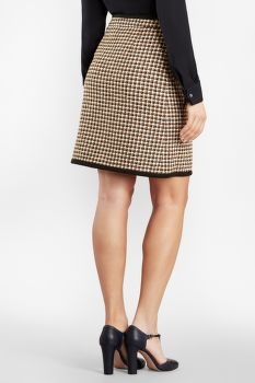 SZOKNYA BROOKS BROTHERS CHECKED TWEED A-LINE SKIRT