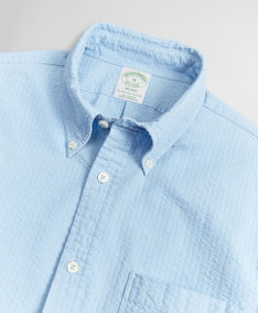 ING BROOKS BROTHERS SPT ML GARMENT DYED SEERSUCKER MILANO LTBLUE