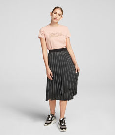 SZOKNYA KARL LAGERFELD METALLIC PLEATED SKIRT