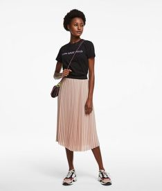 SZOKNYA KARL LAGERFELD PIN STRIPE PLEATED SKIRT