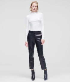 NADRÁG KARL LAGERFELD LEATHER TAILORED PANTS