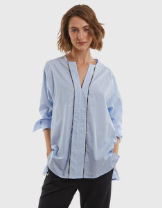 ING LA MARTINA WOMAN PRINTED POPLIN SHIRT