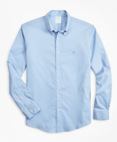 ING BROOKS BROTHERS SPT ML NI STRETCH PINPOINT SOLID MILANO LTBLUE