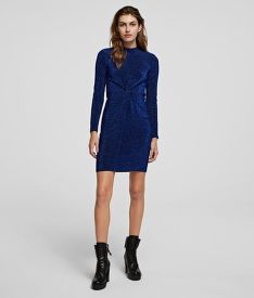 RUHA KARL LAGERFELD LUREX JERSEY DRESS W/TWIST