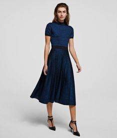 SZOKNYA KARL LAGERFELD LUREX PLEATED SKIRT