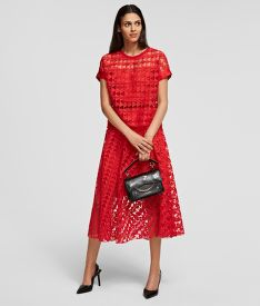 SZOKNYA KARL LAGERFELD KARL EMBROIDERED MESH SKIRT