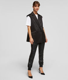 MELLÉNY KARL LAGERFELD TAILORED GILET W/ PLEATED BACK