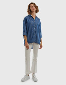 ING LA MARTINA WOMAN 3/4SLEEVE SHIRT DENIM TE